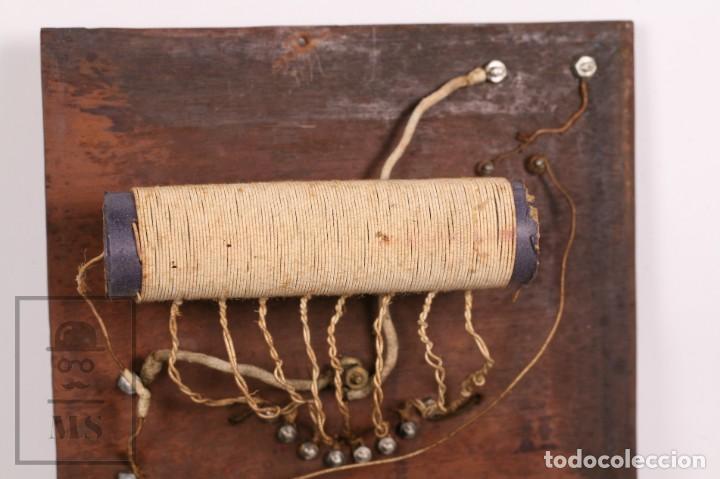 Radios de galena: Antigua Radio de Galena con Caja de Madera - Marcada Record - Años 40-50 - Foto 12 - 156475434