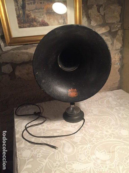 ANTIGUO ALTAVOZ DE TROMPETA PARA RADIO DE GALENA MARCA BRUNET DUOTGHE AÑOS 10-20 (Radios, Gramófonos, Grabadoras y Otros - Radios de Galena)