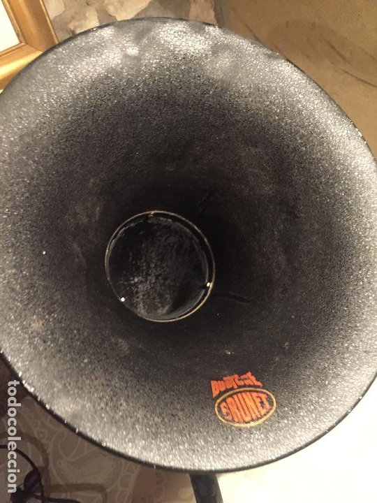 Radios de galena: Antiguo altavoz de trompeta para radio de galena marca Brunet Duotghe años 10-20 - Foto 5 - 191227190