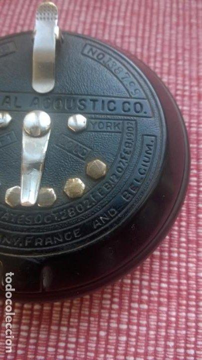 Radios de galena: RARISIMA pieza(nunca vendida)ACOUSTICON**General Acoustic**Pieza BAKELITA(Perfecta) Patente Año 1902 - Foto 2 - 192860437