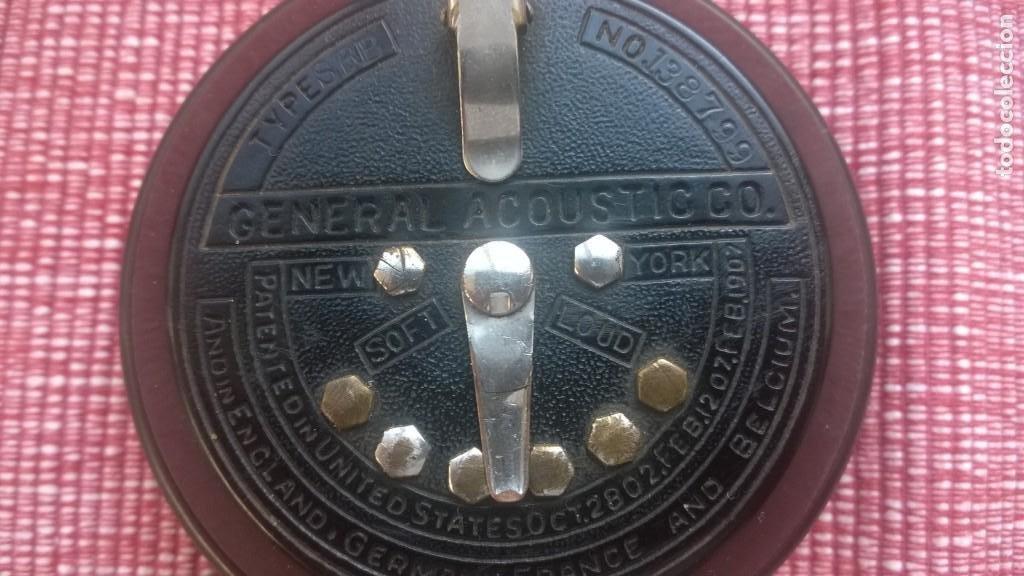 Radios de galena: RARISIMA pieza(nunca vendida)ACOUSTICON**General Acoustic**Pieza BAKELITA(Perfecta) Patente Año 1902 - Foto 3 - 192860437
