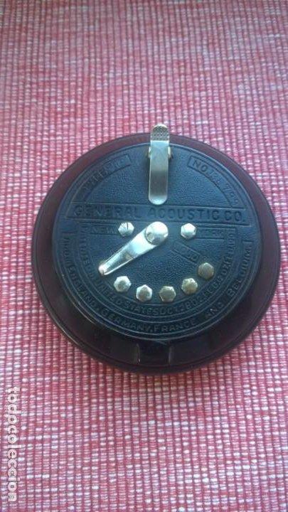 Radios de galena: RARISIMA pieza(nunca vendida)ACOUSTICON**General Acoustic**Pieza BAKELITA(Perfecta) Patente Año 1902 - Foto 9 - 192860437