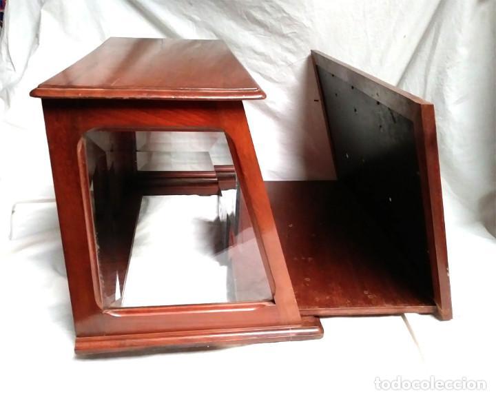 Radios de galena: Chasis Radio Galena madera de Caoba, frontal Baquelita, laterales Cristal Biselado, para formación. - Foto 2 - 197816808