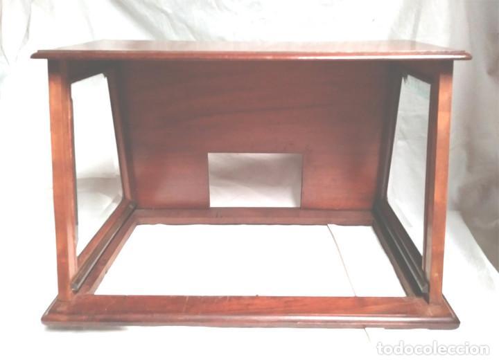 Radios de galena: Chasis Radio Galena madera de Caoba, frontal Baquelita, laterales Cristal Biselado, para formación. - Foto 3 - 197816808