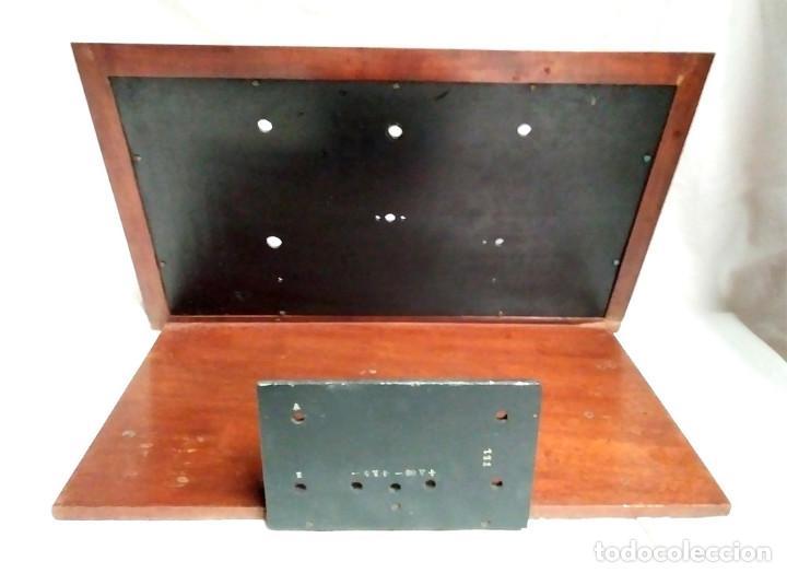 Radios de galena: Chasis Radio Galena madera de Caoba, frontal Baquelita, laterales Cristal Biselado, para formación. - Foto 4 - 197816808