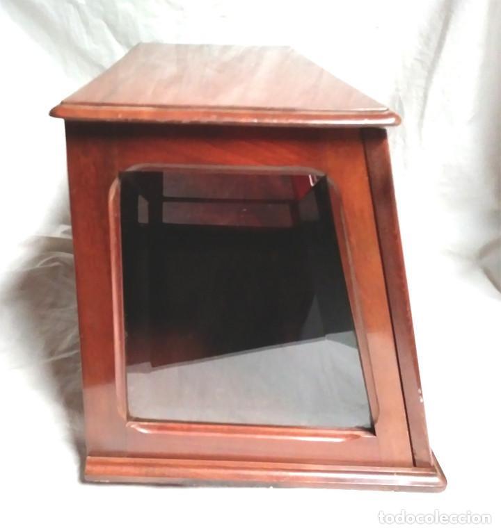 Radios de galena: Chasis Radio Galena madera de Caoba, frontal Baquelita, laterales Cristal Biselado, para formación. - Foto 5 - 197816808