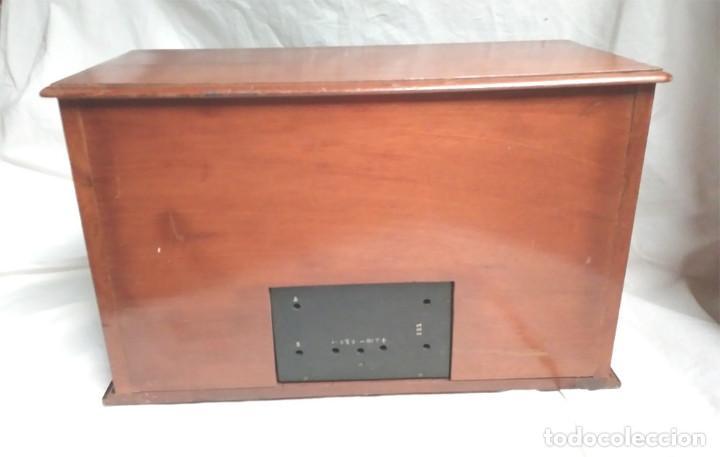 Radios de galena: Chasis Radio Galena madera de Caoba, frontal Baquelita, laterales Cristal Biselado, para formación. - Foto 6 - 197816808