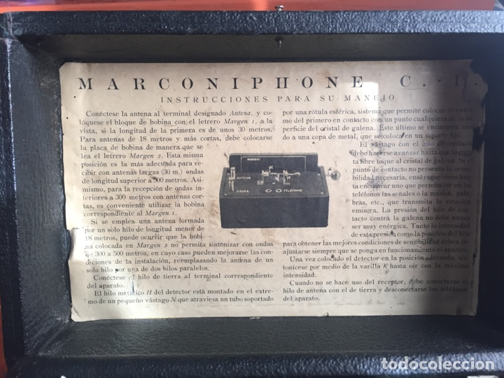 Radios de galena: Radio Galena marconiphone - Foto 12 - 215932052