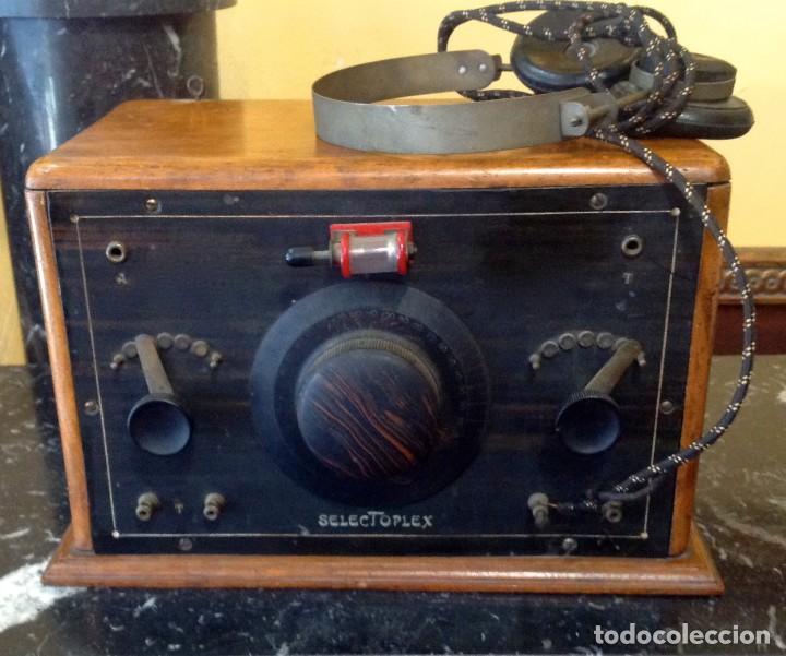 RADIO GALENA SELECTOPLEX (COD. U_159) AÑO 1927 FUNCIONA (Radios, Gramófonos, Grabadoras y Otros - Radios de Galena)