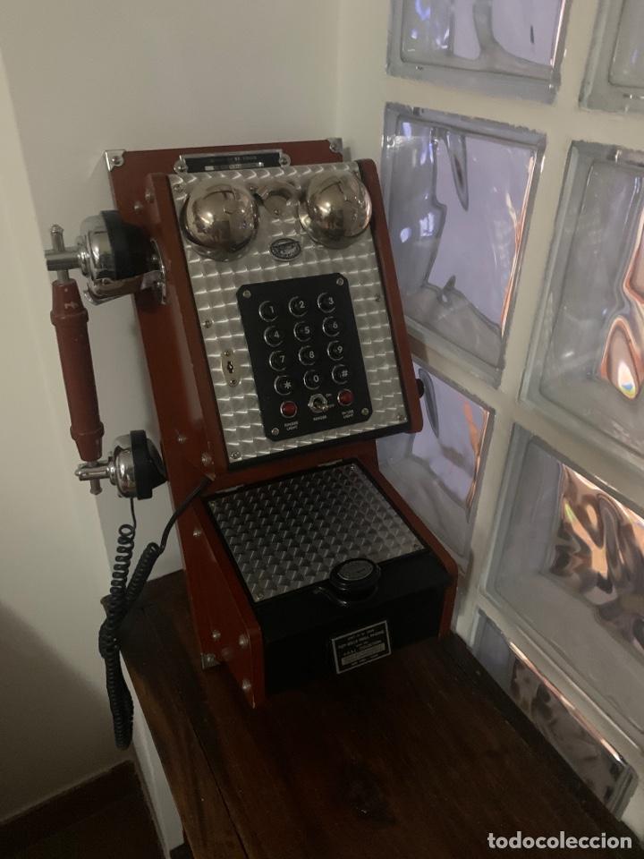 TELÉFONO ANTIGUO REPLICA (Radios, Gramófonos, Grabadoras y Otros - Radios de Galena)
