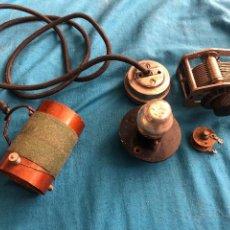 Radios de galena: KIT RADIO DETECTOR DE GALENA ANTIGUO, CONDENSADOR VARIABLE, BOBINA AURICULARES, DE UNOS 80-100 AÑOS. Lote 220743463