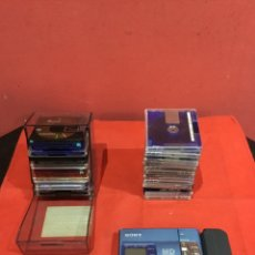 Radio a galena: WALKMAN SONY MZ-R50 MINI DISCOS CON RECORDER CON 15 MINI DISCOS ANTIGUOS. Lote 234477575