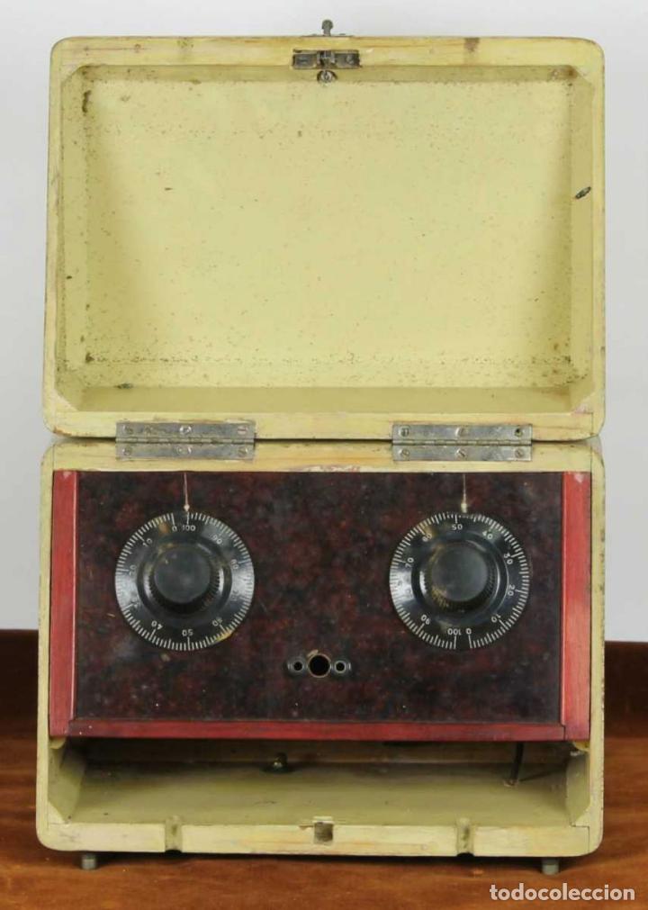 Radios de galena: RADIO DE GALENA. CAJA EN MADERA POLICROMADA. POPEYE EL MARINO. CIRCA 1940. - Foto 5 - 239537210