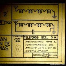 Radios de galena: RADIO GALENA 1924 / 1928 BELL. Lote 245742115