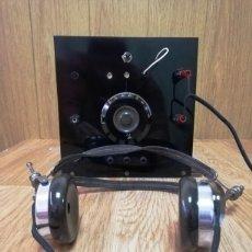 Radios de galena: RADIO GALENA CON AURICULARES. Lote 252827710