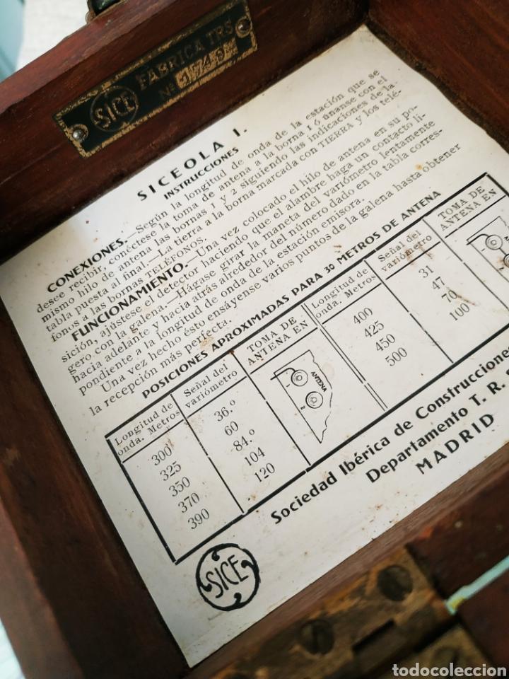 Radios de galena: Radio Galena Siceola I N serie 1749 - Foto 2 - 254051180