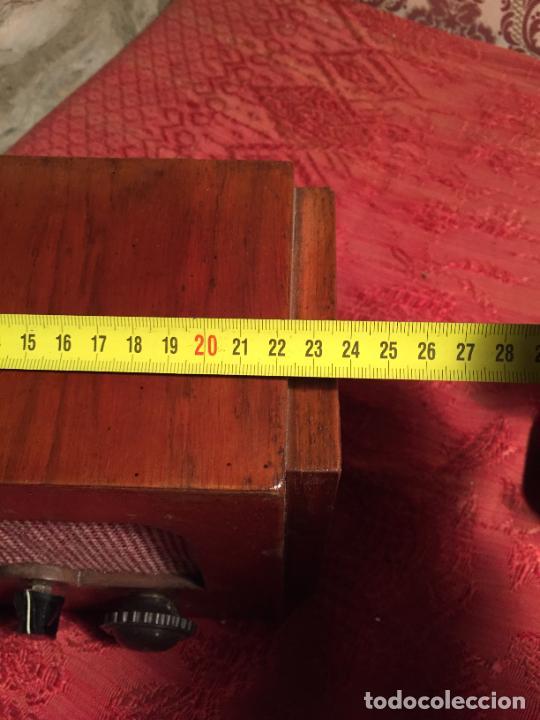 Radios de galena: Antigua pequeña radio de galena con caja de madera interruptores de Baquelita años 20-30 - Foto 10 - 260359590