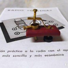 Radios de galena: DETECTOR PARA RADIO DE GALENA.. Lote 262058845