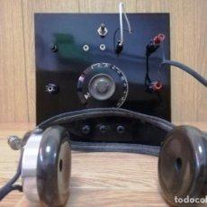 Radio a galena: RADIO GALENA CON AURICULARES. Lote 263269355