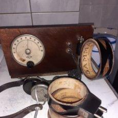 Rádios de galena: RADIO GALENA CON BOBINAS Y AURICULARES.VER FOTOS... Lote 276361503