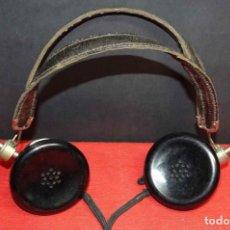 Radios de galena: CASCOS O AURICULARES PARA RADIO DE GALENA, C1920. Lote 293895818