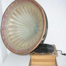 Gramófonos y gramolas: GRAMOLA DE BOCINA C1900 DE LA CASA JUMBO. Lote 12479726