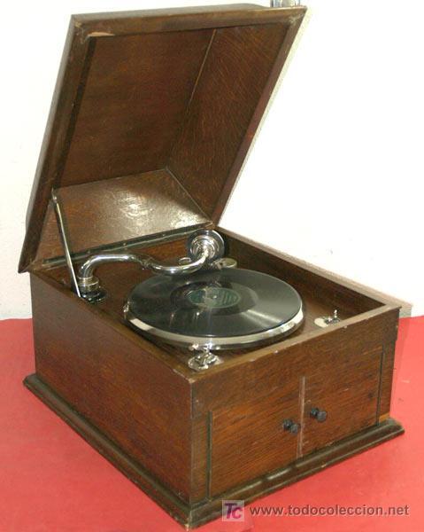 Gramófonos y gramolas: GRAMOLA DE SOBREMESA EKOPHON CREMONA - Foto 2 - 12508993