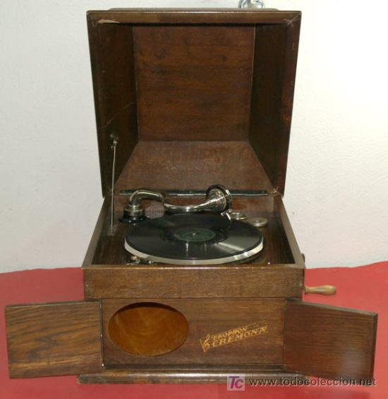 Gramófonos y gramolas: GRAMOLA DE SOBREMESA EKOPHON CREMONA - Foto 3 - 12508993