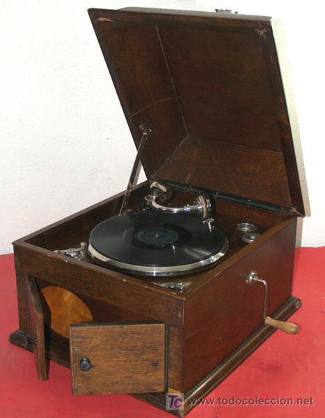 Gramófonos y gramolas: GRAMOLA DE SOBREMESA EKOPHON CREMONA - Foto 4 - 12508993