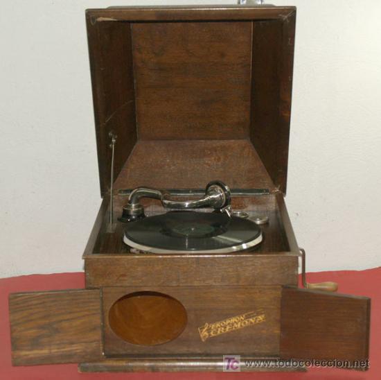 Gramófonos y gramolas: GRAMOLA DE SOBREMESA EKOPHON CREMONA - Foto 5 - 12508993