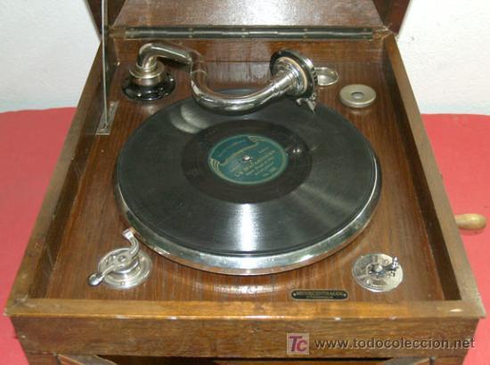Gramófonos y gramolas: GRAMOLA DE SOBREMESA EKOPHON CREMONA - Foto 6 - 12508993