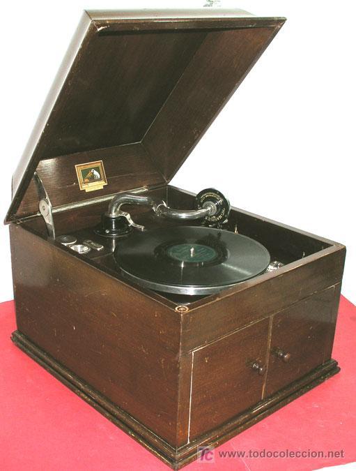 Gramófonos y gramolas: GRAMOLA SOBREMESA LA VOZ DE SU AMO - Foto 2 - 10425451