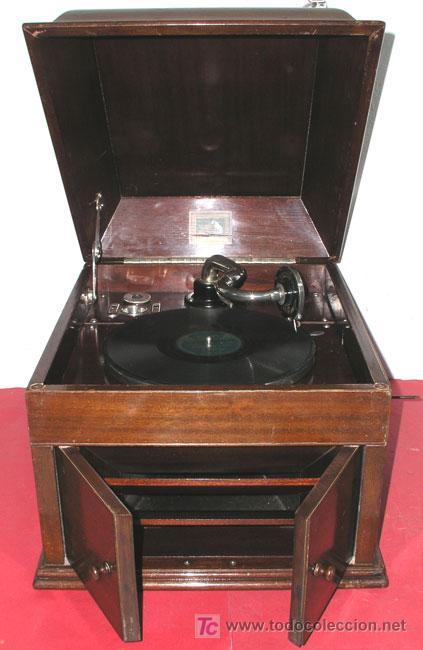 Gramófonos y gramolas: GRAMOLA SOBREMESA LA VOZ DE SU AMO - Foto 3 - 10425451