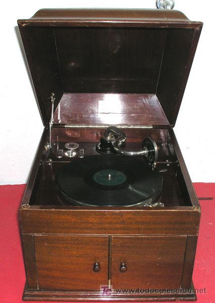 Gramófonos y gramolas: GRAMOLA SOBREMESA LA VOZ DE SU AMO - Foto 4 - 10425451