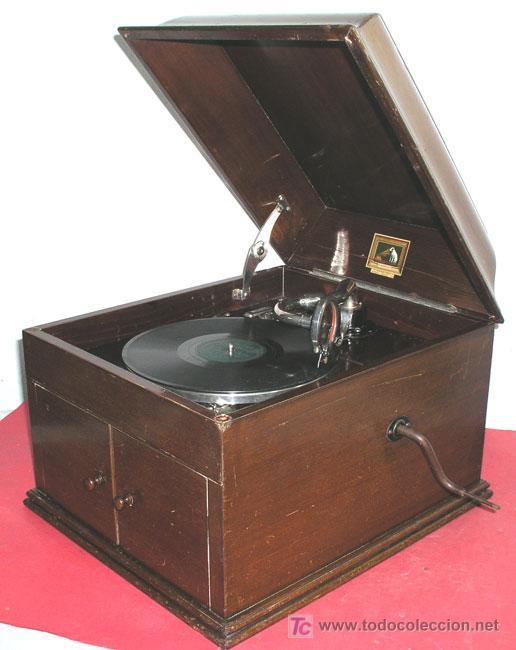 Gramófonos y gramolas: GRAMOLA SOBREMESA LA VOZ DE SU AMO - Foto 5 - 10425451