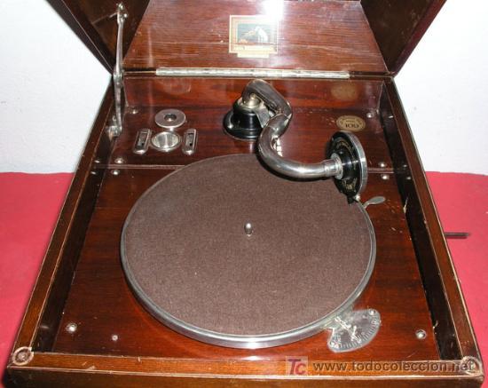 Gramófonos y gramolas: GRAMOLA SOBREMESA LA VOZ DE SU AMO - Foto 6 - 10425451