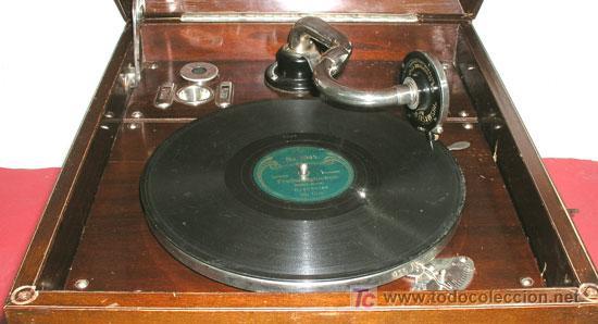 Gramófonos y gramolas: GRAMOLA SOBREMESA LA VOZ DE SU AMO - Foto 7 - 10425451