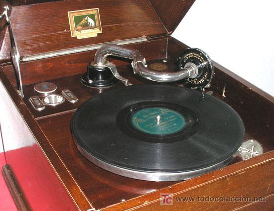Gramófonos y gramolas: GRAMOLA SOBREMESA LA VOZ DE SU AMO - Foto 8 - 10425451