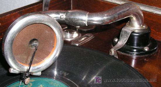 Gramófonos y gramolas: GRAMOLA SOBREMESA LA VOZ DE SU AMO - Foto 10 - 10425451