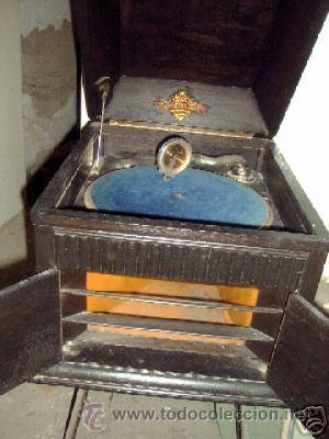 Gramófonos y gramolas: gramofono del tipo de cofre - Foto 3 - 26861977