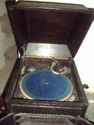 Gramófonos y gramolas: gramofono del tipo de cofre - Foto 4 - 26861977