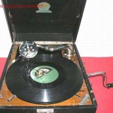 Gramófonos y gramolas: GRAMOLA DE MALETA CORONA. Lote 12389052