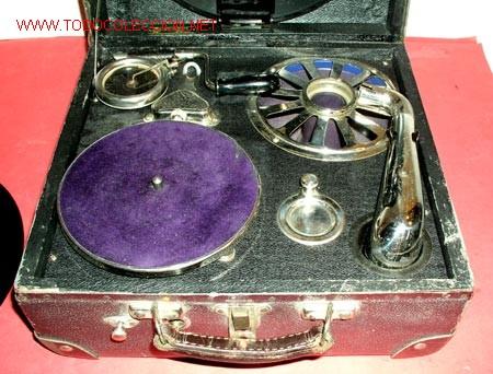 Gramófonos y gramolas: GRAMOLA DE MALETA NIRONA DE COLECCION - Foto 5 - 12508979