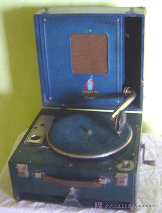 ANTIGUA MALETA GRAMOFONO GRAMOLA DE COLECCION , MARCA DULCETTO (Radios, Gramófonos, Grabadoras y Otros - Gramófonos y Gramolas)