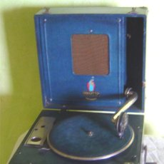 Gramófonos y gramolas: ANTIGUA MALETA GRAMOFONO GRAMOLA DE COLECCION , MARCA DULCETTO. Lote 27340810