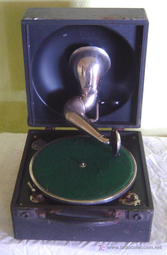 ANTIGUA MALETA GRAMOFONO GRAMOLA DE COLECCION , MARCA DECCA (Radios, Gramófonos, Grabadoras y Otros - Gramófonos y Gramolas)