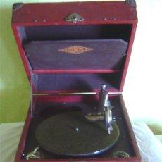 Gramófonos y gramolas: ANTIGUA MALETA GRAMOFONO GRAMOLA DE COLECCION , MARCA LUIBA VIROR. Lote 26561460