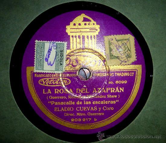 LA ROSA DEL AZAFRAN (PASACALLES DE LAS ESCALERAS Y LAS ESPIGADORAS): (Radios, Gramófonos, Grabadoras y Otros - Gramófonos y Gramolas)