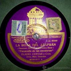 Gramófonos y gramolas: LA ROSA DEL AZAFRAN (PASACALLES DE LAS ESCALERAS Y LAS ESPIGADORAS):. Lote 27393438