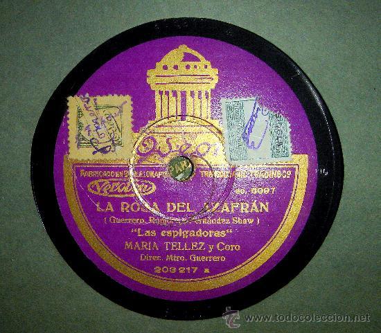 Gramófonos y gramolas: LA ROSA DEL AZAfran (PASACALLES DE LAS ESCALERAS Y LAS ESPIGADORAS): - Foto 2 - 27393438